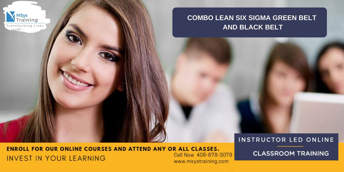 Combo Lean Six Sigma Green Belt and Black Belt Certification Training In Los Angeles CA