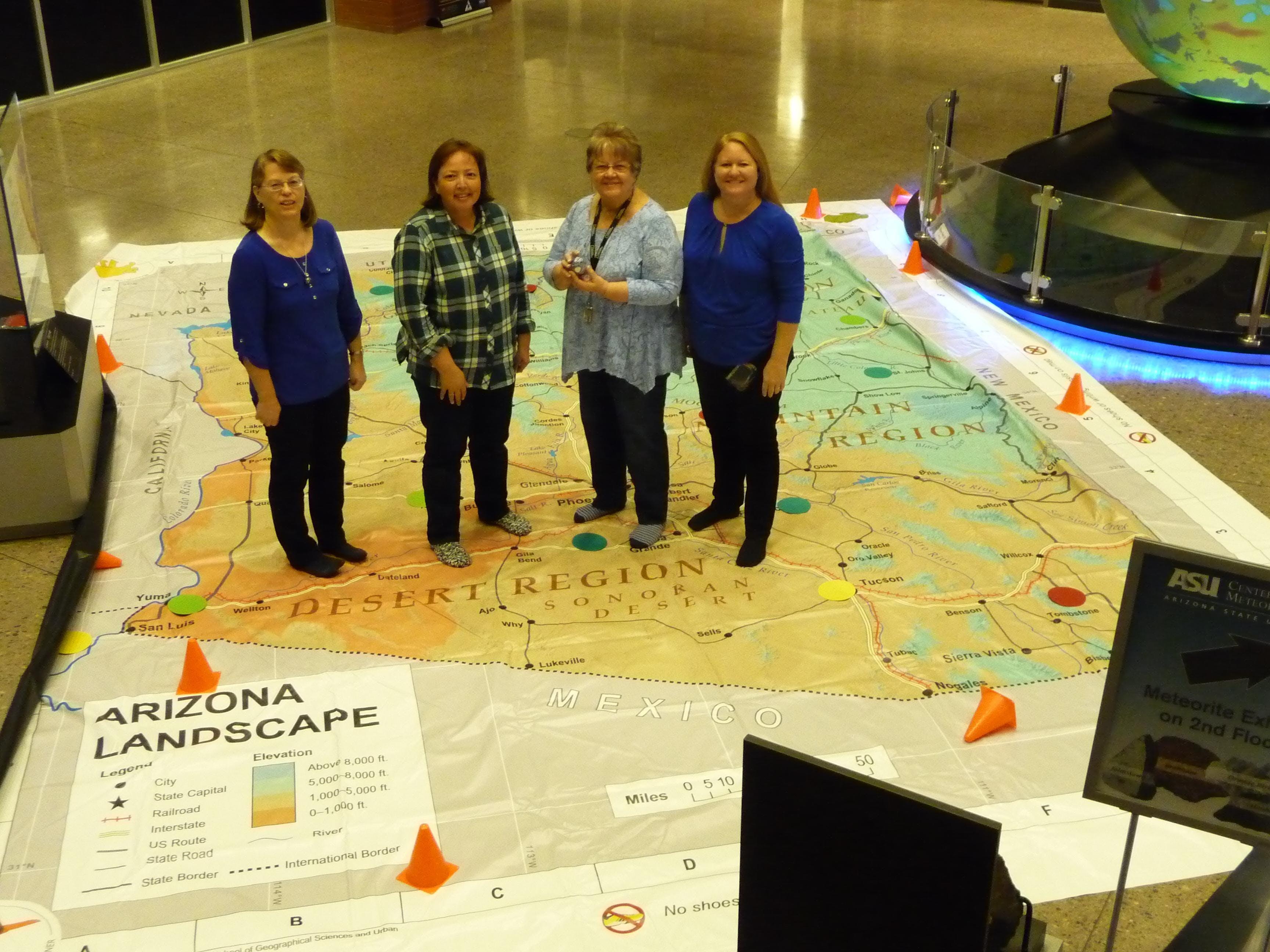 Arizona State University Tempe Campus Map.Using The Giant Arizona Floor Map Tempe Tempe