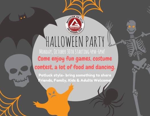 GBSA Halloween PARTY at Gracie Barra San Antonio Brazilian Jiu ...
