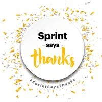 Sprint says Thanks Event