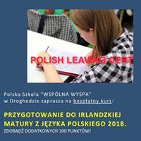 Przygotowanie do irlandzkiej matury z jzyka polskiego