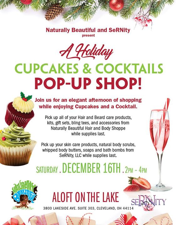 Naturally Beautiful and SeRNity Holiday Pop Up Shop