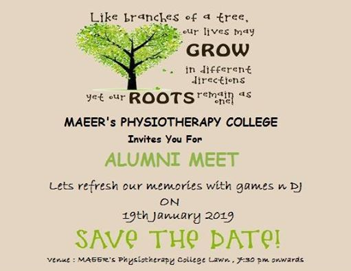 MAEERs Physiotherapy College Alumni Meet 2019