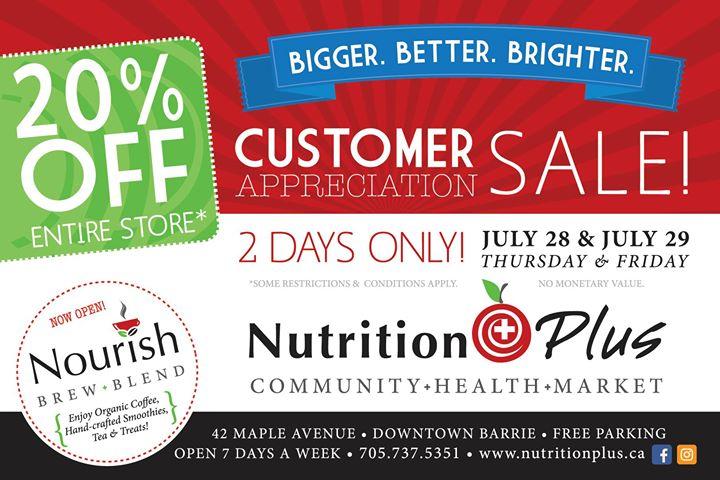 Customer Appreciation Sale! 20% OFF Entire Store* at ...