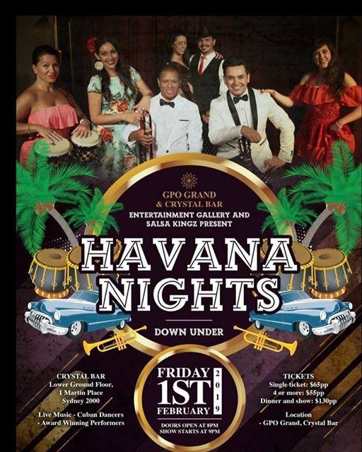 Havana Nights Down Under - Tickets on Sale Now