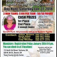 Polo Palacios Benefit Coyote Calling Contest