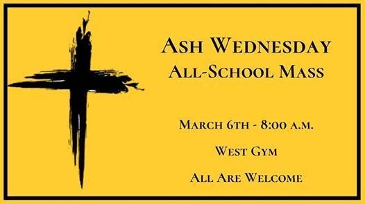 Ash Wednesday All-School Mass