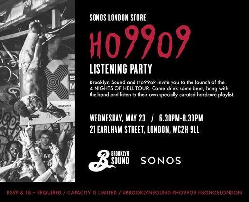 Brooklyn Sound & Sonos present Ho99o9 Listening Party