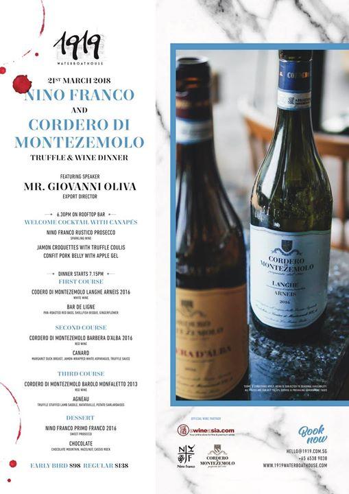 Nino Franco & Cordero Truffle & Wine Dinner