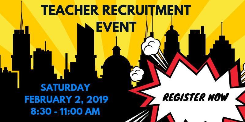 2019 Teacher Recruitment Event Registration