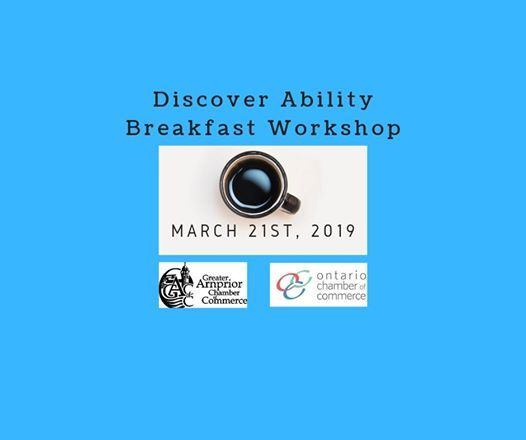 Discover Ability Breakfast Workshop
