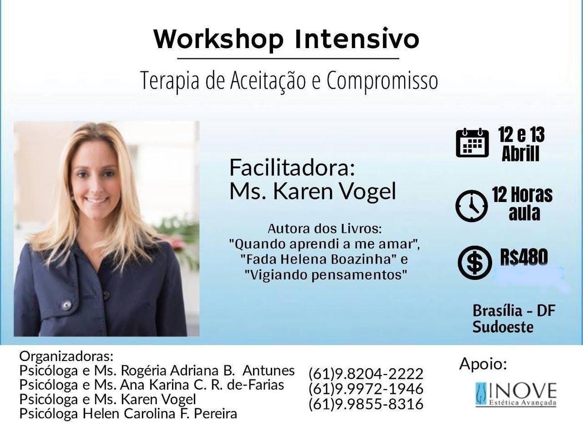 Workshop Intensivo Terapia de Aceitao e Compromisso