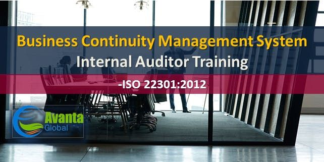 ISO 223012012 Business Continuity Management System Internal Auditor Course