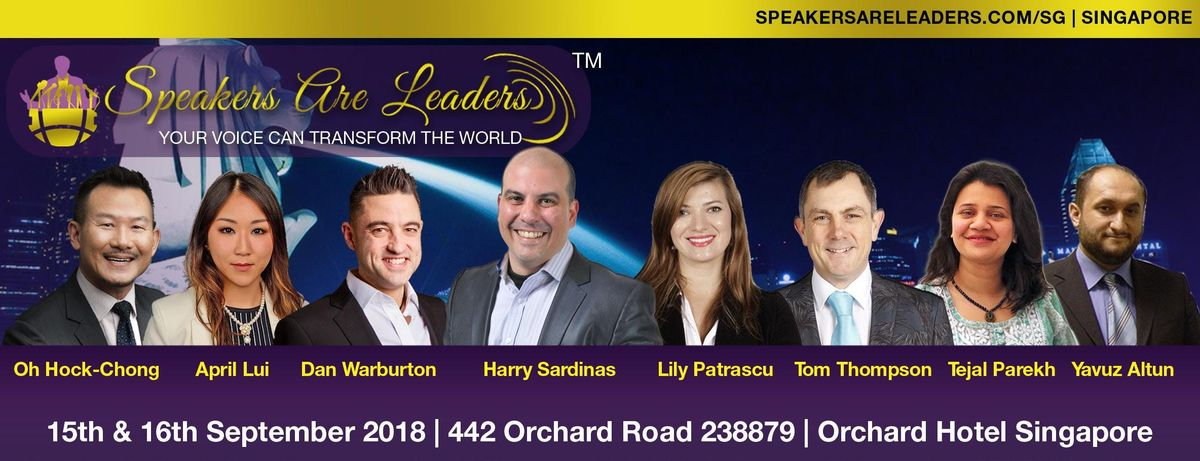 Speakers Are Leaders Singapore Workshop (15-16 September 2018)