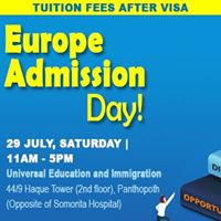 Europe Admission Day Tuition Fee After Visa