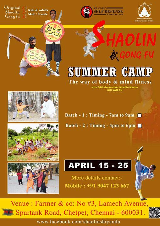 Shaolin Martial Arts summer camp