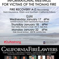 Free Thomas Fire Town Hall New Date