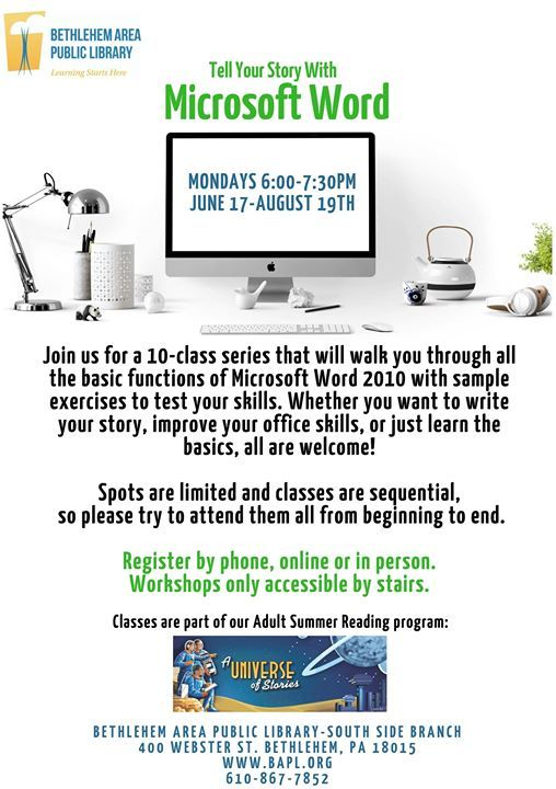 Tell Your Story with Microsoft Word at the South Side