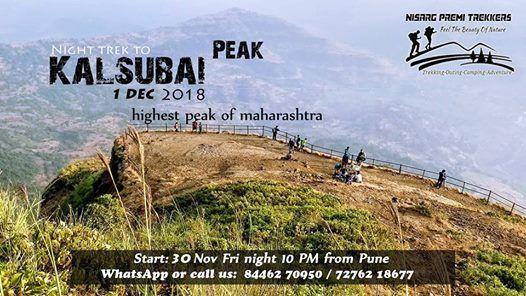 Trek to Highest peak of Maharashtra -Kalsubai Shikhar on 1 Dec