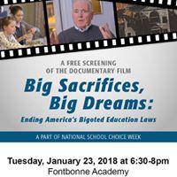 Film Screening Big Sacrifices Big Dreams