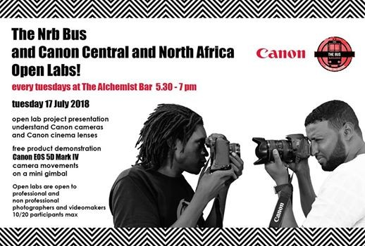 The Nrb Bus and Canon Open Lab - Tuesday 17 July