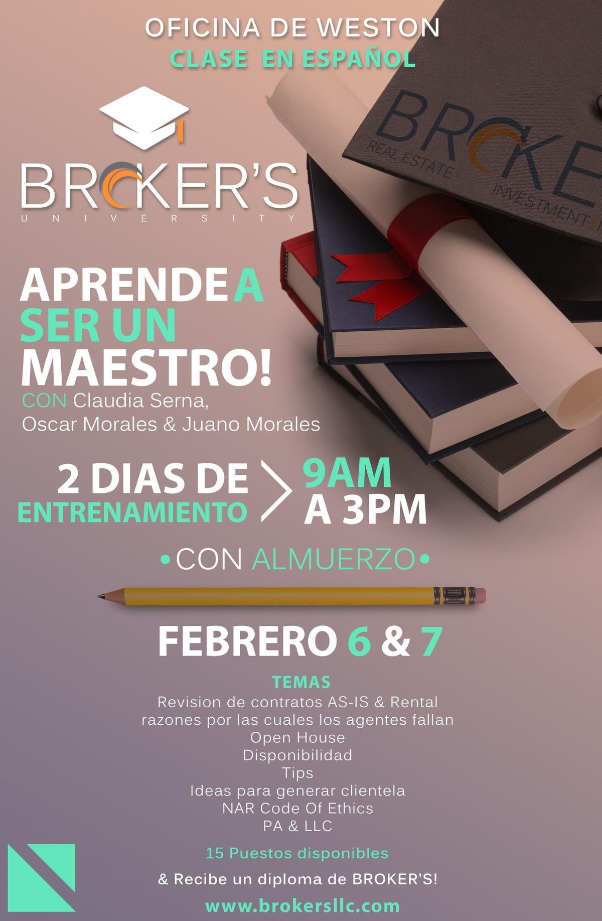 BROKERS university Feb 6 & 7