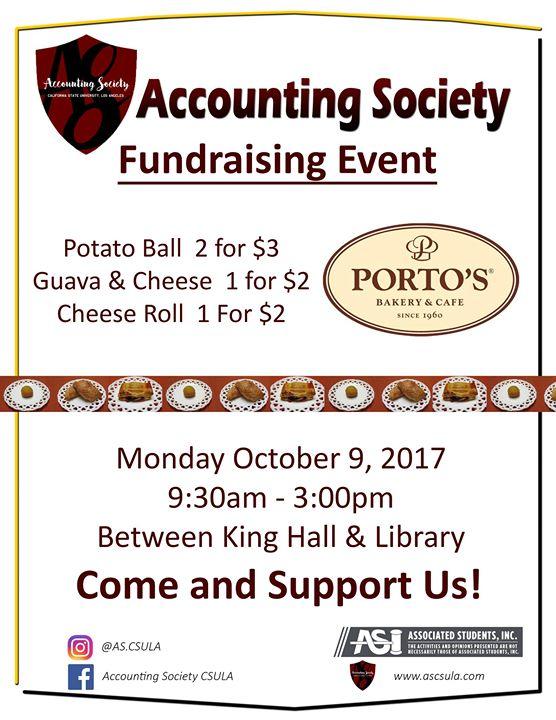 portos bakery sale fundraising event at accounting society csula