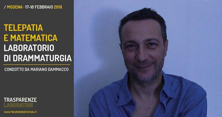 Telepatia e Matematica  Laboratorio con Mariano Dammacco