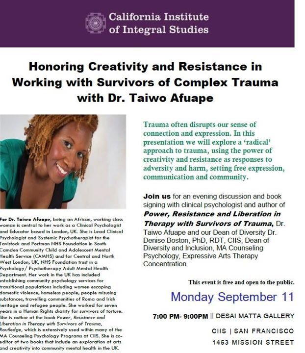 power resistance and liberation in therapy with survivors of trauma afuape taiwo
