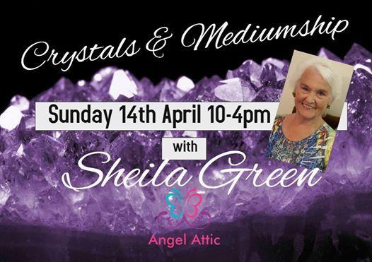 Crystals & Mediumship Workshop with Sheila Green on 14th April