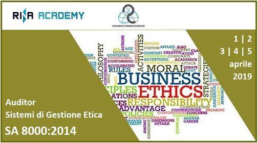 Corso per Auditor di Sistemi di Gestione Etica (SA80002014)
