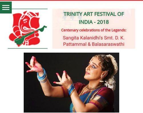 Bharatanatyam Performance-Trinity Arts Festival 9th Dec 2018