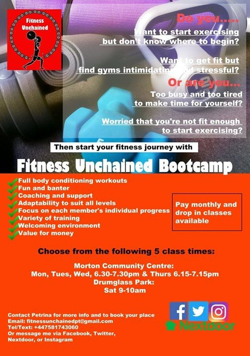 Saturday Outdoor Bootcamp  Fitness Unchained