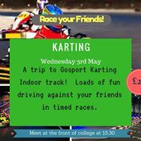 Race your friends at Gosport Indoor Racing track