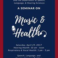 Music &amp Health A Free Seminar by the University of Arizona
