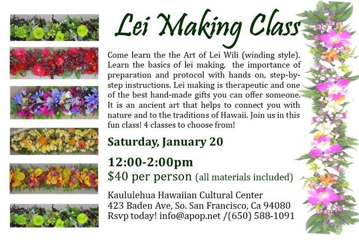 Lei Making Class - Kaululehua Hawaiian Cultural Center