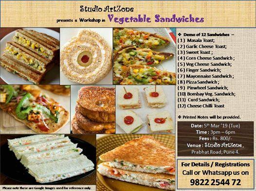 Veg. Sandwiches Workshop