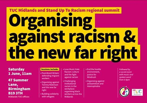 TUC Midlands And Stand Up To Racism Regional Summit