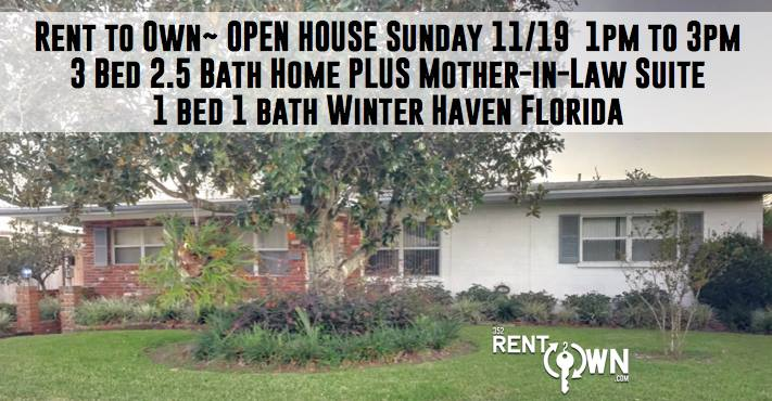 Rent to Own / Open House 3 bed 2 5 bath plus Mother in Law