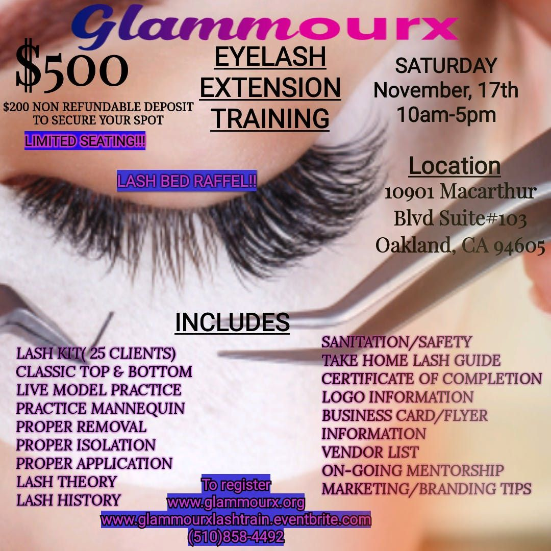 Oakland Ca Eyelash Extension Class Oakland