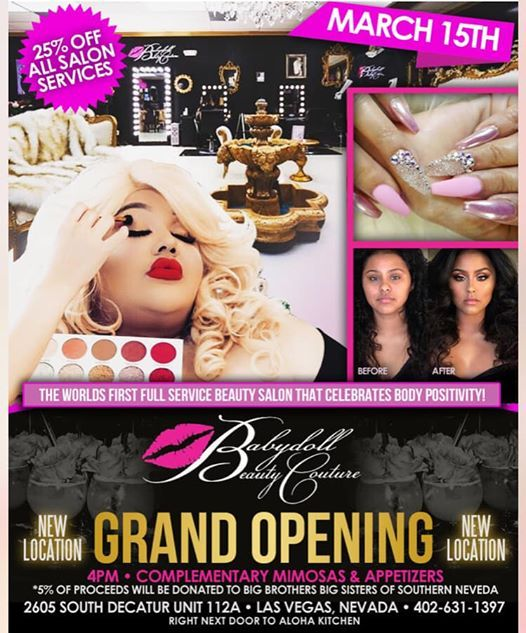 Babydoll Beauty Couture New location Grand Opening at 2605 S Decatur