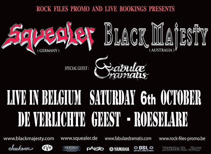 Black Majesty european tour at De Verlichte Geest, Roeselare