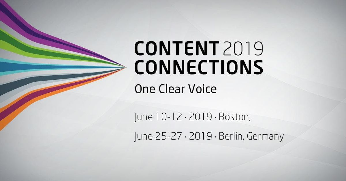 Content Connections EMEA 2019  Berlin Germany