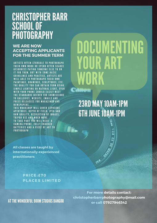 Documenting Your Artwork - Chris Barr School of Photograph