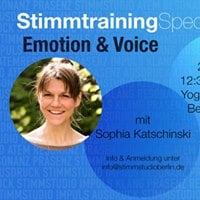 Stimmtraining Special Emotion &amp Voice
