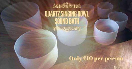 Quartz singing bowl meditation