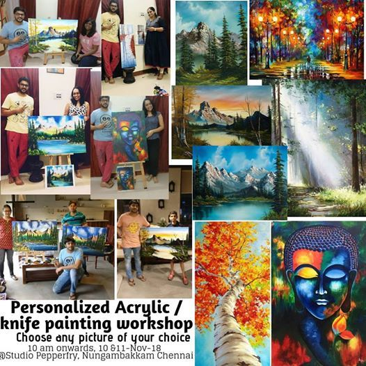 Personalized Acrylic & knife painting workshop - 2