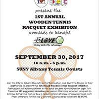 1st Annual Wooden Tennis Racquet Exibition