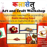 KalaSetu - Rakhi Making Workshops at NGO Centres