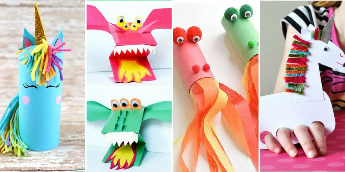 Kids Summer Craft Club Unicorn And Dragon Crafts At Ugly Bread